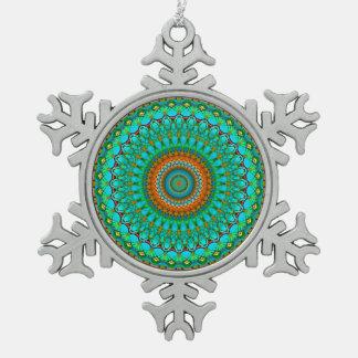 Ornement Flocon De Neige Mandala géométrique G388 d'ornement