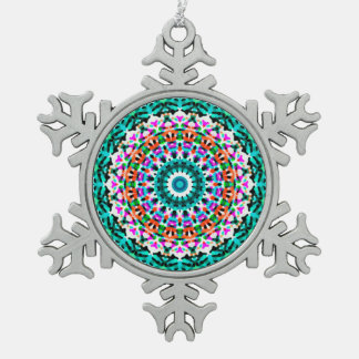 Ornement Flocon De Neige Mandala géométrique G405 d'ornement