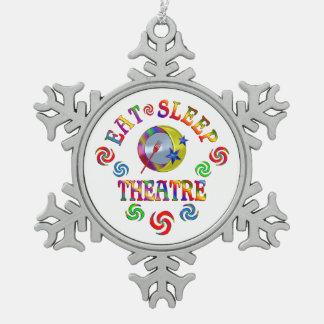 Ornement Flocon De Neige Mangez le théâtre de sommeil
