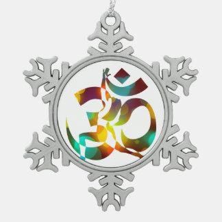 Ornement Flocon De Neige Méditation 16 colorée