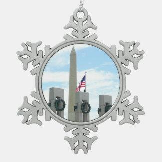 Ornement Flocon De Neige Monument et 2ÈME GUERRE MONDIALE de Washington