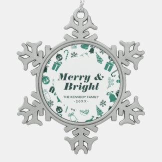 Ornement Flocon De Neige Motif d'amusement de Noël