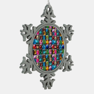 Ornement Flocon De Neige Motif en pierre en cristal de bijou