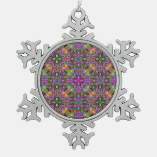 Ornement Flocon De Neige Motif merveilleux V01 de Kaleido