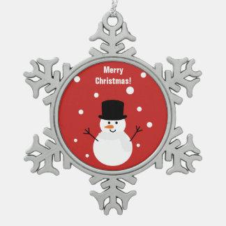 Ornement Flocon De Neige Neige de fête de vacances de Noël d'hiver mignon
