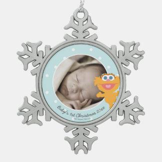 Ornement Flocon De Neige Noël du bébé de Zoe   le premier - ajoutez votre