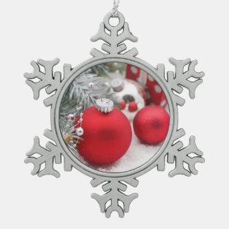 Ornement Flocon De Neige Noël rouge