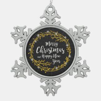 Ornement Flocon De Neige Noël souhaite l'ornement