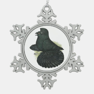 Ornement Flocon De Neige Noir de pigeon de trompettiste