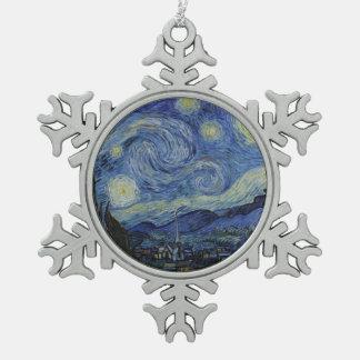 Ornement Flocon De Neige Nuit étoilée Vincent van Gogh