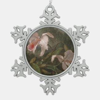 Ornement Flocon De Neige Orchidées et colibris de jungle
