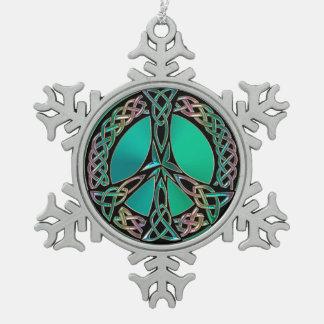 Ornement Flocon De Neige Paix celtique - signe de paix celtique de noeud