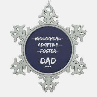 Ornement Flocon De Neige … Papa biologique, adoptif, adoptif