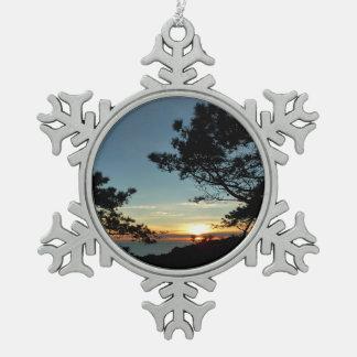 Ornement Flocon De Neige Paysage du coucher du soleil III la Californie de