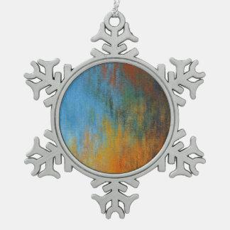 Ornement Flocon De Neige Peinture à l'huile
