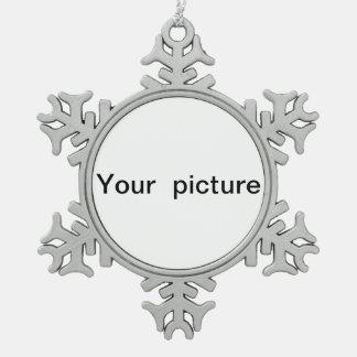 Ornement Flocon De Neige pendentif personnalisé de flocon de neige