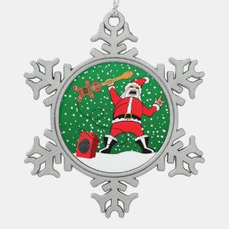 Ornement Flocon De Neige Père Noël de métaux lourds
