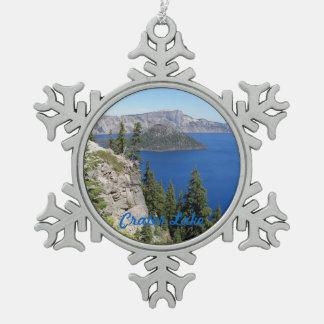 Ornement Flocon De Neige Photo de parc national de lac crater