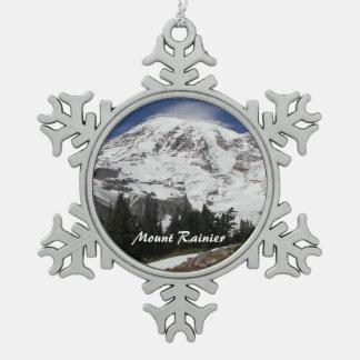 Ornement Flocon De Neige Photo du mont Rainier