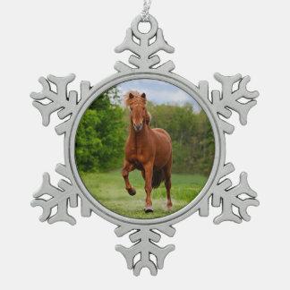 Ornement Flocon De Neige Poney islandais aux amants drôles d'un cheval de