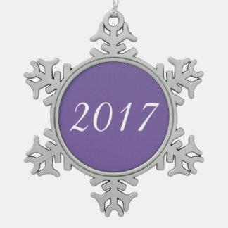 Ornement Flocon De Neige Pourpre personnalisable fait sur commande de 2017