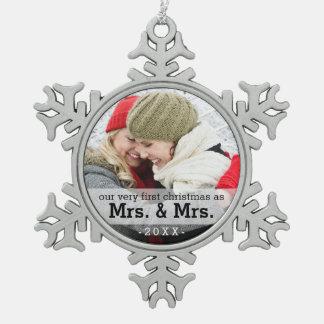 Ornement Flocon De Neige Premier Noël comme Mme et Mme Keepsake Ornament