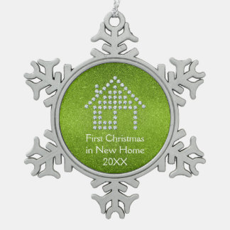 Ornement Flocon De Neige Premier Noël dans la nouvelle maison