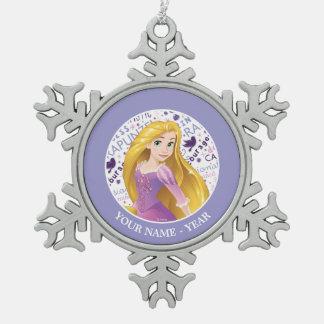 Ornement Flocon De Neige Princesse Rapunzel   Rapunzel ajoutent votre nom