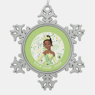 Ornement Flocon De Neige Princesse Tiana   Tiana ajoutent votre nom