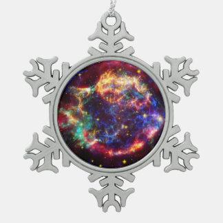 Ornement Flocon De Neige Reste de supernova de galaxie de Cassiopeia