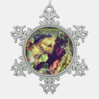 Ornement Flocon De Neige Rêves de flocon de neige d'étain de Toyland de
