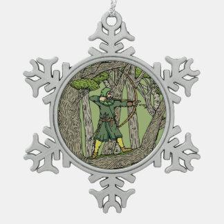 Ornement Flocon De Neige Robin Hood