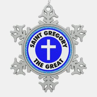 Ornement Flocon De Neige Saint Gregory le grand