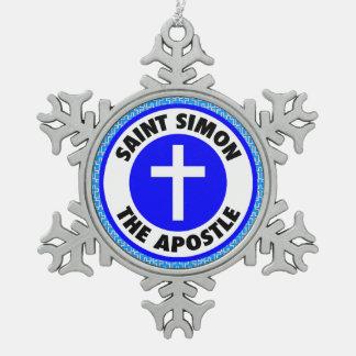 Ornement Flocon De Neige Saint Simon l'apôtre