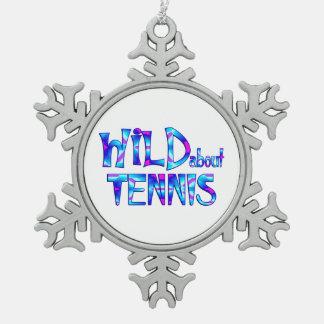 Ornement Flocon De Neige Sauvage au sujet du tennis