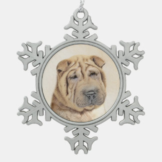 Ornement Flocon De Neige Shar Pei