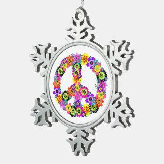 Ornement Flocon De Neige Signe de paix