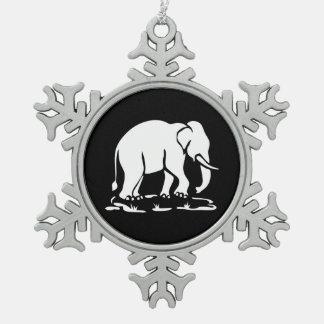 Ornement Flocon De Neige Signe thaïlandais asiatique de trekking d'éléphant