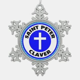 Ornement Flocon De Neige St Peter Claver