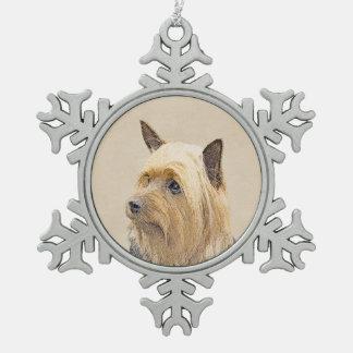 Ornement Flocon De Neige Terrier soyeux