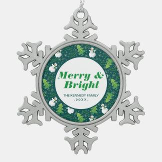 Ornement Flocon De Neige Toujours motif d'amusement de Noël