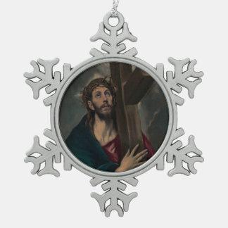 Ornement Flocon De Neige Transport de la croix