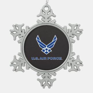 Ornement Flocon De Neige U.S. Logo de l'Armée de l'Air - bleu