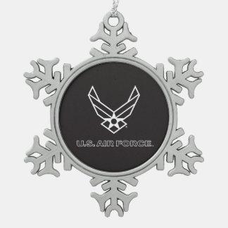 Ornement Flocon De Neige U.S. Logo de l'Armée de l'Air - noir