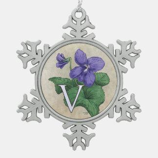 Ornement Flocon De Neige V pour l'illustration de monogramme de fleur de