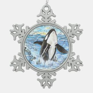 Ornement Flocon De Neige Violation de la carte antique d'orque