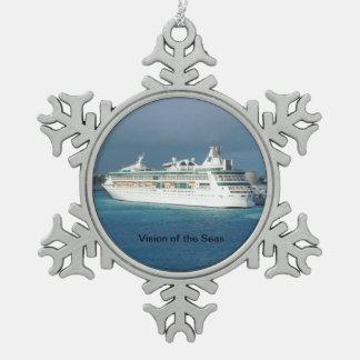 Ornement Flocon De Neige Vision de l'ornement de bateau de croisière de
