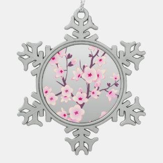 Ornement floral d'arbre de Noël de fleurs de