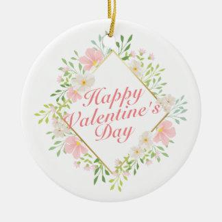 Ornement floral de cadre de Saint-Valentin