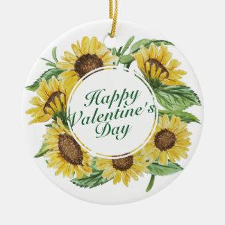 Ornement floral de cadre de Saint-Valentin de